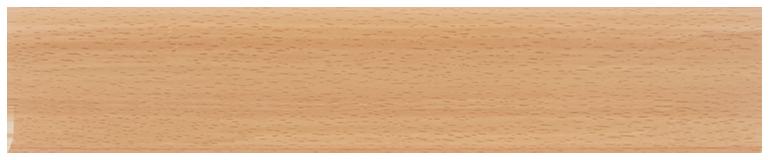 L024 - Бук Светлый - 58 мм Плинтус