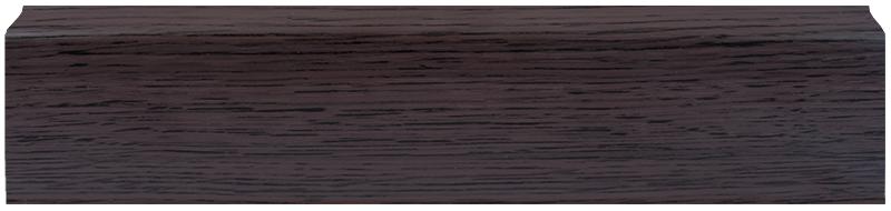 LL026 Зебрано Черно - Коричневый 67 мм Плинтус