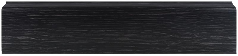 LL028 Венге Темный 67 мм Плинтус